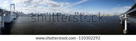 Tokyo bay - stock photo