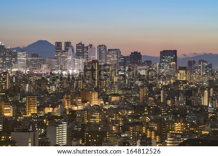 TOKYO - FEB.24: With over 35 million people, Tokyo is the world's most populous metropolis and is described as one of the three command centers for world economy Feburary 24, 2013 in Tokyo, Japan