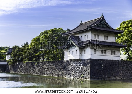 Tokyo Imperial Palace, tokyo, japan - stock photo