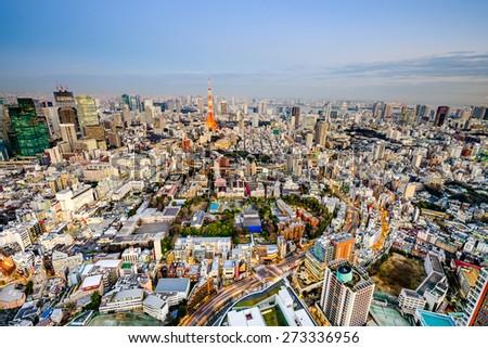 Tokyo, Japan cityscape. - stock photo