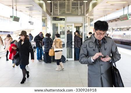 Tokyo Japan Jan 2 Shinjuku Station Stock Photo 330926918 ...