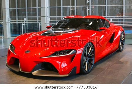 TOKYO, JAPAN   JULY 10, 2017: TOYOTA Concept Cars FT 1,