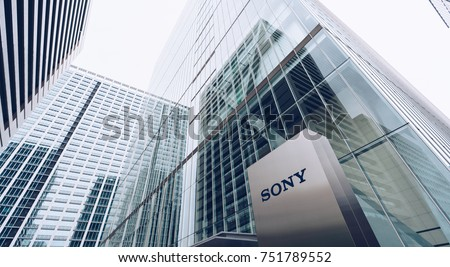 Tokyo, Japan, October 2017: Sony Center Headquarters building in Tokyo