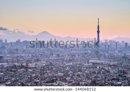 TOKYO - MAR 23: With over 35 million people, Tokyo is the world's most populous metropolis and is described as one of the three command centers for world economy March 23, 2013 in Tokyo, Japan - stock photo