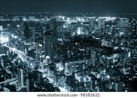 tokyo night view - stock photo