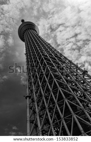 Tokyo Sky tree, Japan - The tallest freestanding building in the world. - stock photo
