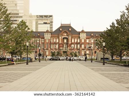 Tokyo station - stock photo
