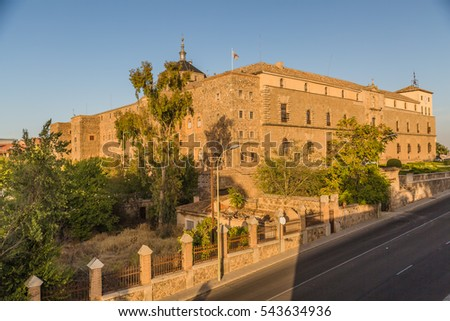 TOLEDO, SPAIN - OCTOBER, 2016: Cityscape. View of Hospital Tavera or Hospital de Afuera in Toledo.