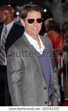 Tom Cruise at Los Angeles Premiere of TROPIC THUNDER, Mann's Village Theatre in Westwood, Los Angeles, CA, August 11, 2008