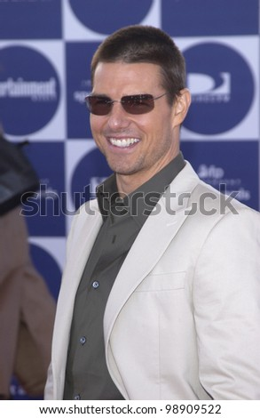 TOM CRUISE at the 2004 IFP Independent Spirit Awards on the beach at Santa Monica, CA. February 28, 2004 - stock photo