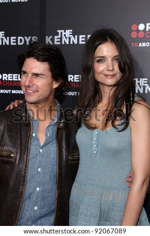 """Tom Cruise, Katie Holmes  at the """"Kennedys"""" World Premiere, Academy of Motion Picture Arts and Sciences, Bevrly Hills, CA. 03-28-11 - stock photo"""