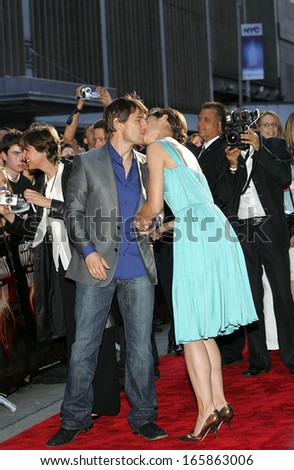 Tom Cruise, Katie Holmes at US Premiere of WAR OF THE WORLDS, The Ziegfeld Theatre, New York, NY, June 23, 2005 - stock photo