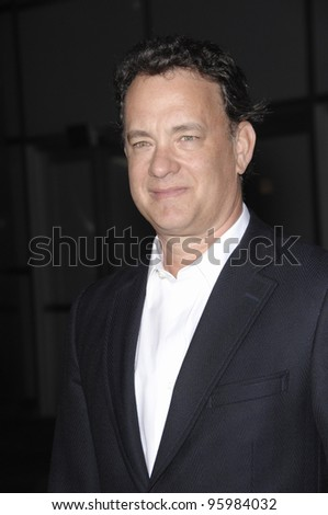 "TOM HANKS at the Los Angeles premiere of ""Starter for 10"" which he produced. February 6, 2007  Los Angeles, CA Picture: Paul Smith / Featureflash"