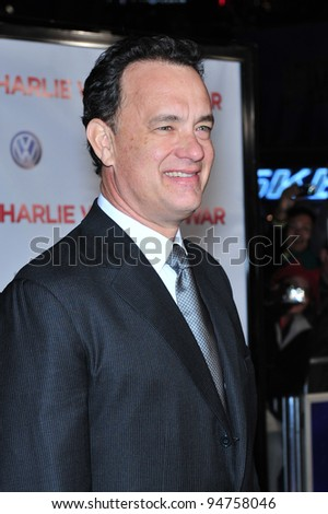 """Tom Hanks at the world premiere of his new movie """"Charlie Wilson's War"""" at Universal Citywalk Cinemas, Universal City. December 10, 2007  Los Angeles, CA Picture: Paul Smith / Featureflash - stock photo"""