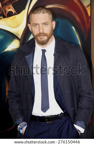 Tom Hardy at the Los Angeles premiere of 'Mad Max: Fury Road' held at the TCL Chinese Theatre IMAX in Hollywood, USA on May 7, 2015. - stock photo