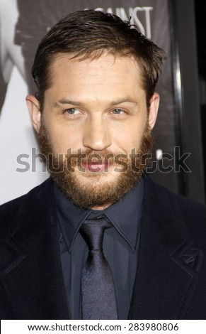 Tom Hardy at the Los Angeles premiere of 'This Means War' held at the Grauman's Chinese Theatre in Hollywood on February 8, 2012.  - stock photo