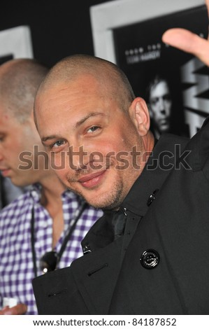 """Tom Hardy at the world premiere of his new movie """"Warrior"""" at the Arclight Theatre, Hollywood. September 6, 2011  Los Angeles, CA Picture: Paul Smith / Featureflash - stock photo"""