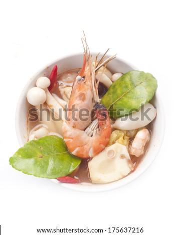 Tom Yam Kung (Thai cuisine) - stock photo