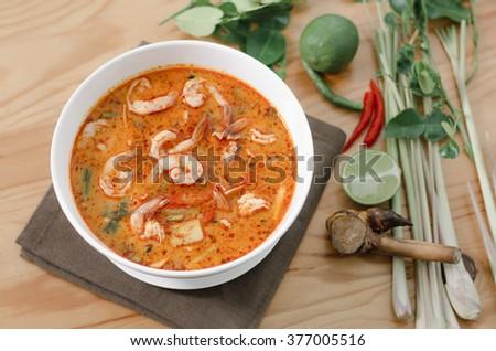 Tom yam Kung Thailand Food ThaiStyle - stock photo