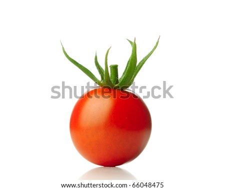 tomato isolated - stock photo