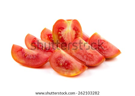 tomato isolated on the white background - stock photo