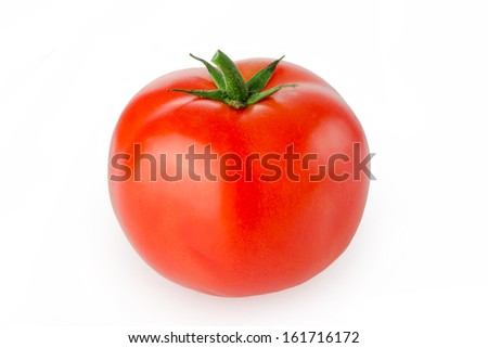 tomato isolated on white - stock photo