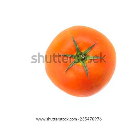 Tomato isolated on white - stock photo