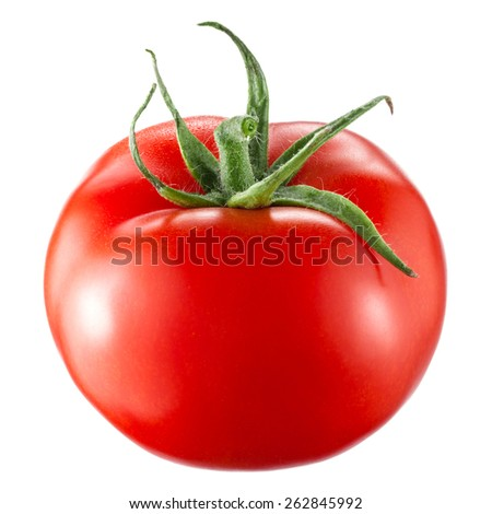 Tomato isolated on white background - stock photo