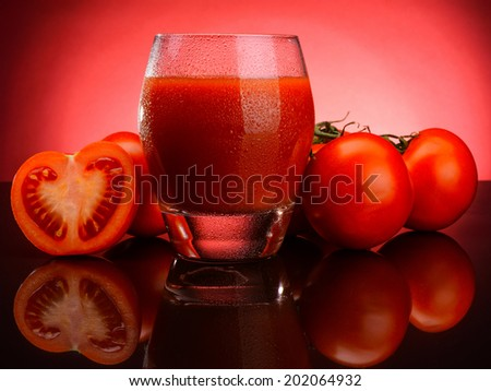 tomato juice and vegetables - stock photo