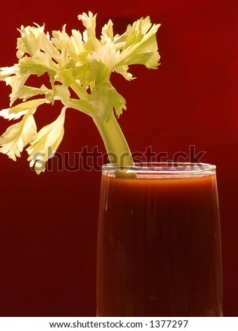 Tomato juice or blood Mary - stock photo