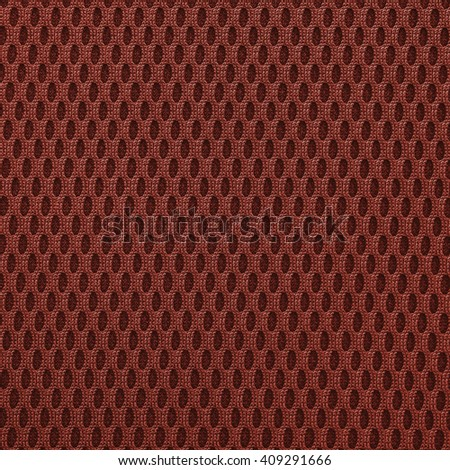 Tomato red multilayer fiber fabric texture. Close up, top view. - stock photo