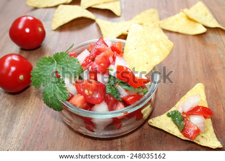 tomato-salsa - stock photo