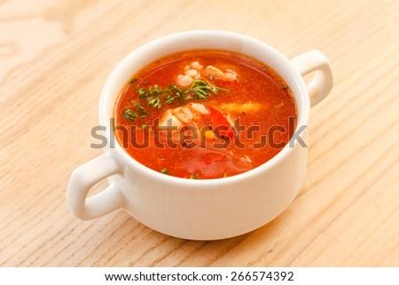 tomato soup - stock photo