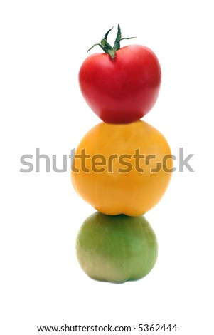 Tomato traffic light - stock photo
