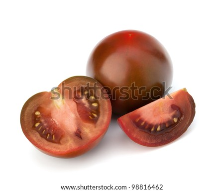 Tomato vegetable  isolated on white background - stock photo