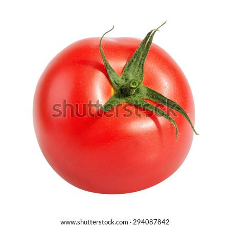 Tomatoe isolated on white - stock photo