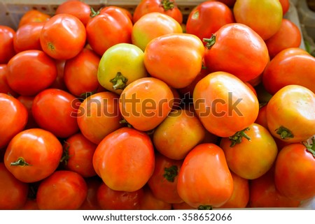 tomatoes  at fresh-food market in thailand