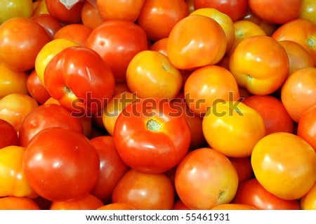 Tomatoes At The Market Stall