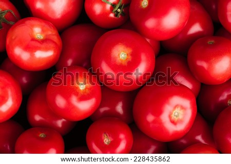 Tomatoes Background - stock photo