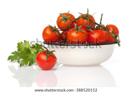 tomatoes cherry in bowl - stock photo