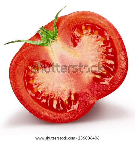 tomatoes isolated on white Clipping Path   - stock photo