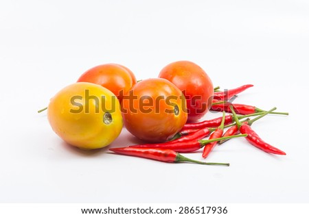 tomatoes, peppers, chilli - stock photo