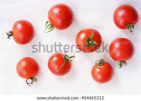Tomatoes. red ripe tomatoes on white background. - stock photo