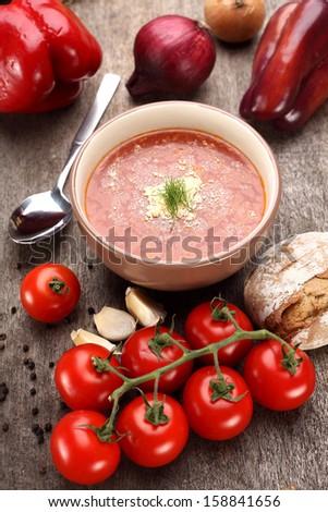 tomatoes soup  - stock photo