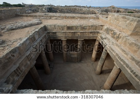 Tomb of the Kings, Paphos in Cyprus - stock photo
