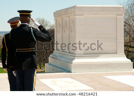 Tomb of the Unknowns - stock photo
