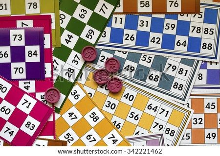 Tombola Bingo - stock photo