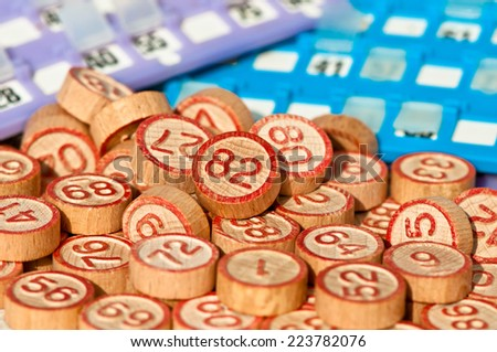 Tombola numbers - stock photo