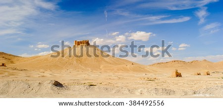Tombs valley of Palmyra, an ancient Semitic city, Syria