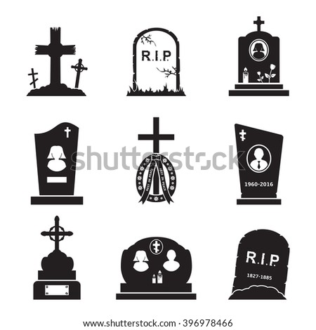 Tombstone icon set